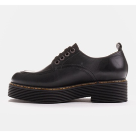 Marco Shoes Mokasyny Chiara ze skóry przecieranej czarne 4
