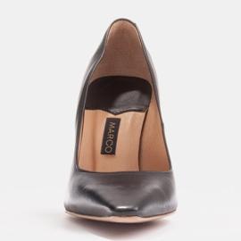 Marco Shoes Szpilki skórzane z wydłużonym przodem czarne 2