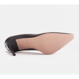Marco Shoes Szpilki skórzane z wydłużonym przodem czarne 7