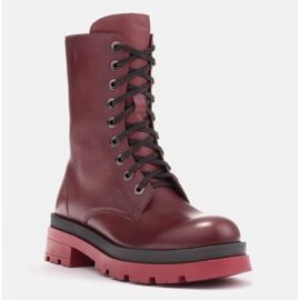 Marco Shoes Sznurowane botki Giulia bordowy czerwone 1