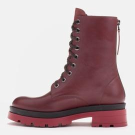 Marco Shoes Sznurowane botki Giulia bordowy czerwone 2
