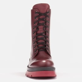 Marco Shoes Sznurowane botki Giulia bordowy czerwone 4