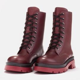 Marco Shoes Sznurowane botki Giulia bordowy czerwone 3