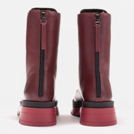Marco Shoes Sznurowane botki Giulia bordowy czerwone 7