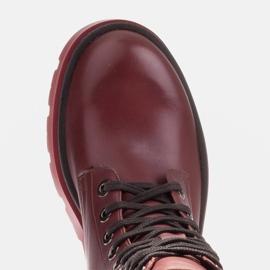Marco Shoes Sznurowane botki Giulia bordowy czerwone 6