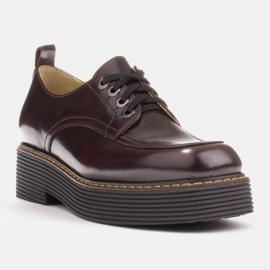 Marco Shoes Mokasyny Chiara ze skóry przecieranej czarne czerwone 2