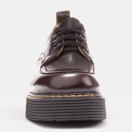 Marco Shoes Mokasyny Chiara ze skóry przecieranej czarne czerwone 4