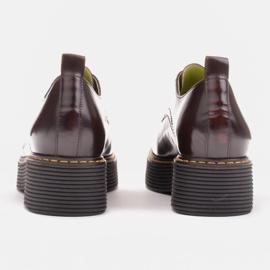 Marco Shoes Mokasyny Chiara ze skóry przecieranej czarne czerwone 5