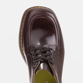 Marco Shoes Mokasyny Chiara ze skóry przecieranej czarne czerwone 7
