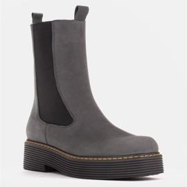 Marco Shoes Glany Greta z elastyczną gumą szare 1