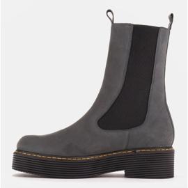 Marco Shoes Glany Greta z elastyczną gumą szare 4