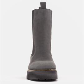 Marco Shoes Glany Greta z elastyczną gumą szare 2