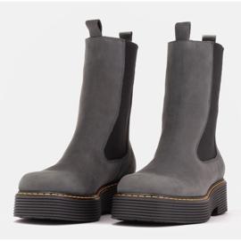 Marco Shoes Glany Greta z elastyczną gumą szare 3