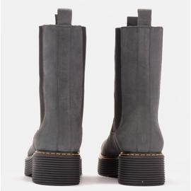 Marco Shoes Glany Greta z elastyczną gumą szare 5