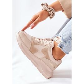 PE1 Damskie Sportowe Buty Sneakersy Beżowe Bethell beżowy 1