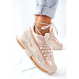 PS1 Damskie Sportowe Buty Sneakersy Beżowe Aland beżowy 4