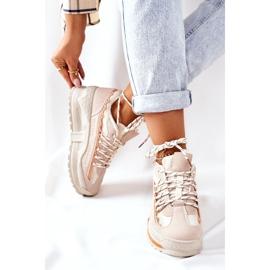 PS1 Damskie Sportowe Buty Sneakersy Beżowe Aland beżowy 1