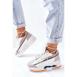 PS1 Damskie Sportowe Buty Sneakersy Białe Aland 6