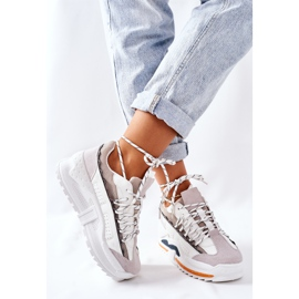 PS1 Damskie Sportowe Buty Sneakersy Białe Aland 5