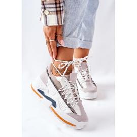 PS1 Damskie Sportowe Buty Sneakersy Białe Aland 2