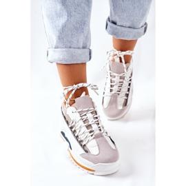 PS1 Damskie Sportowe Buty Sneakersy Białe Aland 3
