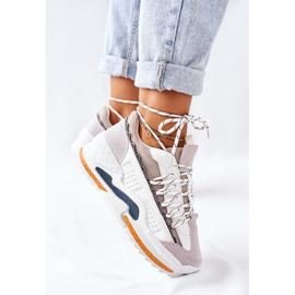 PS1 Damskie Sportowe Buty Sneakersy Białe Aland 4