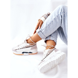 PS1 Damskie Sportowe Buty Sneakersy Białe Aland 7