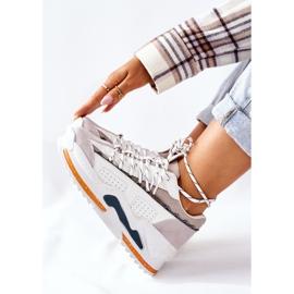 PS1 Damskie Sportowe Buty Sneakersy Białe Aland 8
