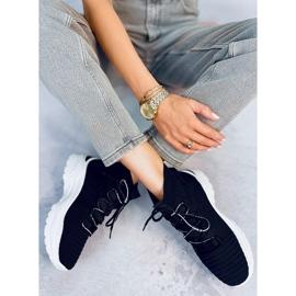 Buty sportowe skarpetkowe czarne 2032 Black 3