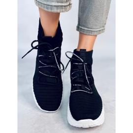 Buty sportowe skarpetkowe czarne 2032 Black 2