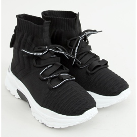 Buty sportowe skarpetkowe czarne 2032 Black 1