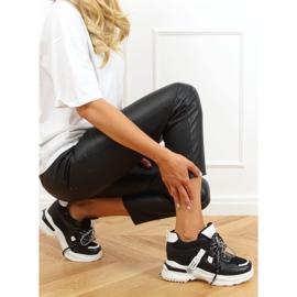 Buty sportowe na koturnie czarne 2D12YD0190-01 Black 2