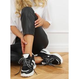 Buty sportowe na koturnie czarne 2D12YD0190-01 Black 1