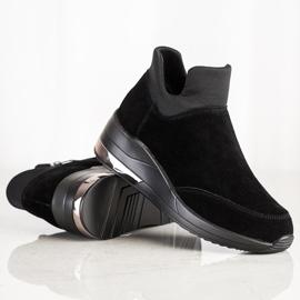 Filippo Skórzane Sneakersy Na Suwak czarne 2