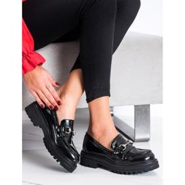 SHELOVET Mokasyny Na Platformie Fashion czarne 3