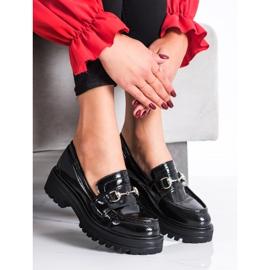 SHELOVET Mokasyny Na Platformie Fashion czarne 2