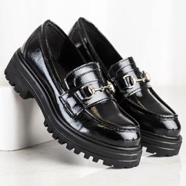 SHELOVET Mokasyny Na Platformie Fashion czarne 4