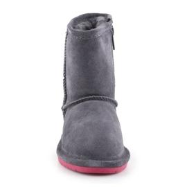 Buty zimowe BearPaw Emma Toddler Zipper Jr 608TZ-903 Charcoal Pomberry granatowe 1
