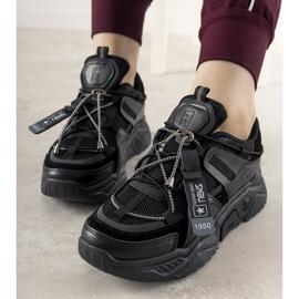 Czarne sneakersy damskie Temida 2