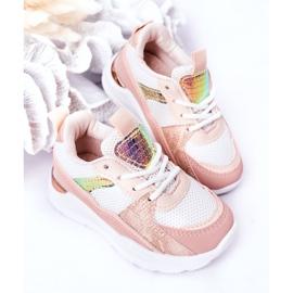 Dziecięce Sportowe Buty Sneakersy Różowe Game Time białe 5