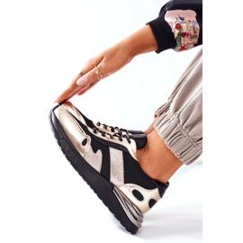 Vinceza Sportowe Damskie Buty Sneakersy Czarno Złote Manitoba czarne złoty 7