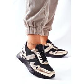 Vinceza Sportowe Damskie Buty Sneakersy Czarno Złote Manitoba czarne złoty 2