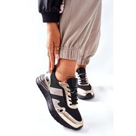 Vinceza Sportowe Damskie Buty Sneakersy Czarno Złote Manitoba czarne złoty 3