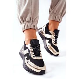 Vinceza Sportowe Damskie Buty Sneakersy Czarno Złote Manitoba czarne złoty 5
