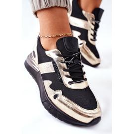 Vinceza Sportowe Damskie Buty Sneakersy Czarno Złote Manitoba czarne złoty 6