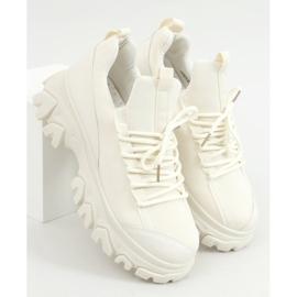 Buty sportowe na wysokiej podeszwie beżowe NB520P Beige beżowy 1