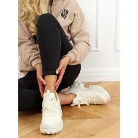 Buty sportowe na wysokiej podeszwie beżowe NB520P Beige beżowy 3