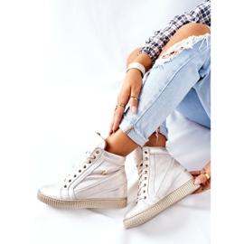 Lewski Shoes Damskie Sportowe Skórzane Buty Lewski Złote 3079 złoty 6