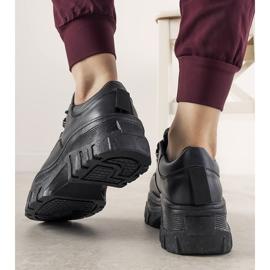Czarne sneakersy sportowe damskie Keygo 1