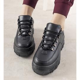 Czarne sneakersy sportowe damskie Keygo 2